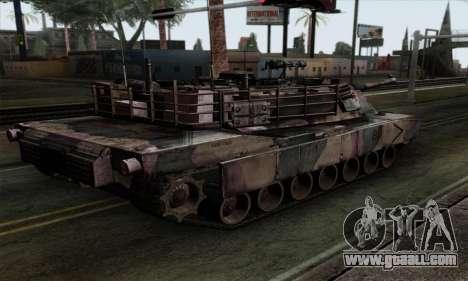 M1A2 Abrams Autumn Camo for GTA San Andreas left view