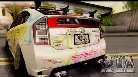 Toyota Prius Hybrid Eri Ayase Love Live Itasha for GTA San Andreas right view