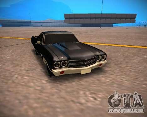 Chevrolet El Camino SS Green Hornet for GTA San Andreas left view