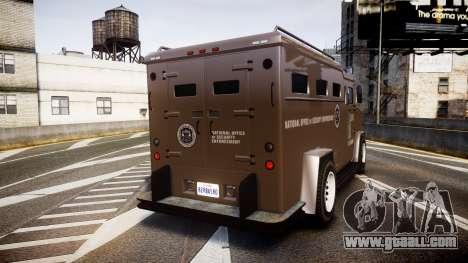 GTA V Brute Police Riot [ELS] skin 1 for GTA 4 back left view