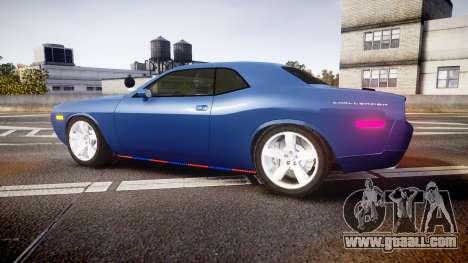 Dodge Challenger RT 2006 Pursuit Vehicle [ELS] for GTA 4 left view