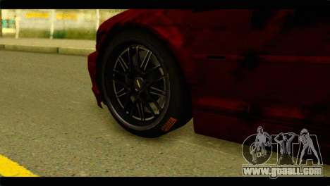 BMW 330 Tuning Red Dragon for GTA San Andreas back left view