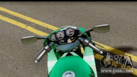 Kawasaki ZX-9R for GTA San Andreas back view