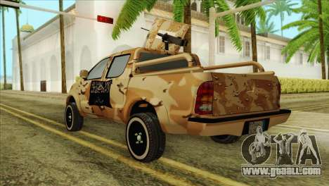 Toyota Hilux Siria Rebels for GTA San Andreas left view