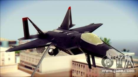 F-22 Raptor Razgriz for GTA San Andreas back view
