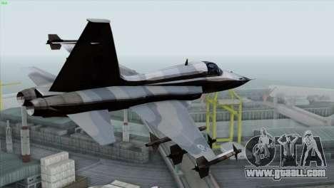 Northrop F-5E Tiger II Wardog Squadron for GTA San Andreas left view