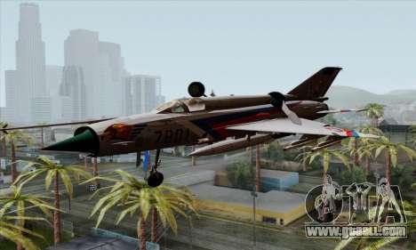 MIG-21MF Slovak Air Force SLP for GTA San Andreas