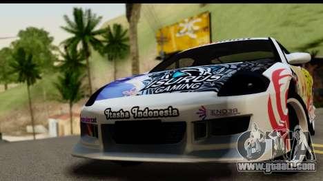Mitsubishi Eclipse 2003 Fate Zero Itasha for GTA San Andreas back left view