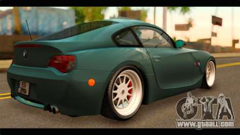 BMW Z4M Coupe for GTA San Andreas left view