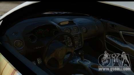 Mitsubishi Eclipse 2003 Fate Zero Itasha for GTA San Andreas back view