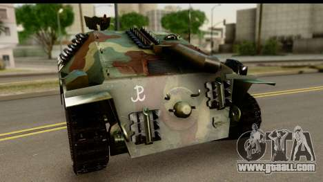 Jagdpanzer 38(t) Hetzer Chwat for GTA San Andreas back left view