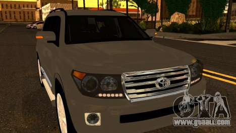 Toyota Land Cruiser 200 2013 for GTA San Andreas side view