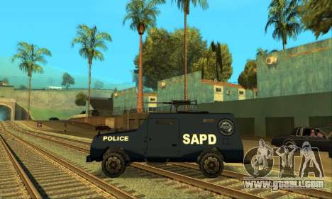 Beta FBI Truck for GTA San Andreas right view