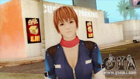 Dead Or Alive 5 LR Kasumi Fighter Force for GTA San Andreas third screenshot