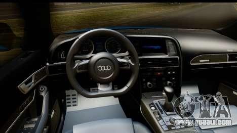 Audi RS6 Vossen for GTA San Andreas inner view
