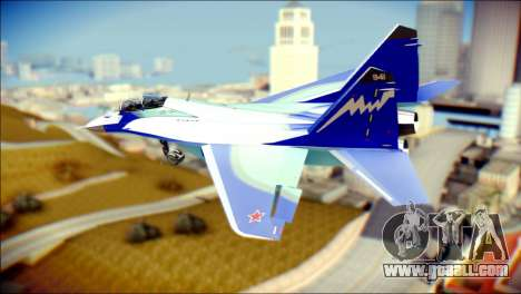 Mikoyan-Gurevich MIG-29K UB 341 Blue for GTA San Andreas left view