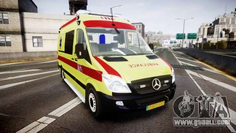 Mercedes-Benz Sprinter 311 cdi Belgian Ambulance for GTA 4