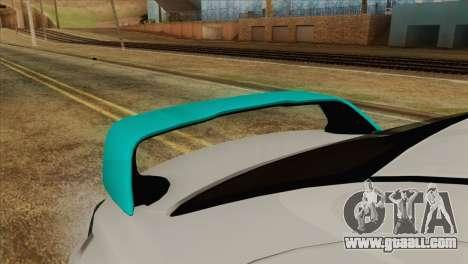Mitsubishi Lancer Miku Hatsu for GTA San Andreas back view