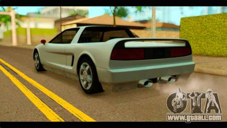 Infernus PFR HD Exterior v0.8 for GTA San Andreas left view