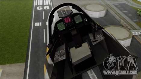 YF-23 Black Widow II Tigermeet for GTA San Andreas back left view