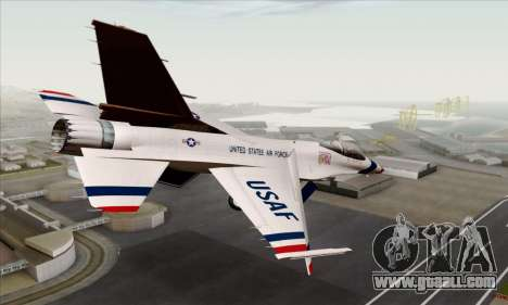 F-16C USAF Thunderbirds for GTA San Andreas left view