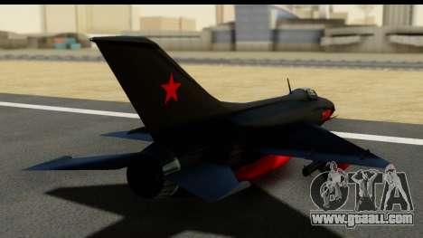 MIG-21F Fishbed B URSS Custom for GTA San Andreas left view
