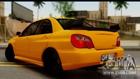 Subaru Impreza WRX STI 2005 Romanian Edition for GTA San Andreas left view