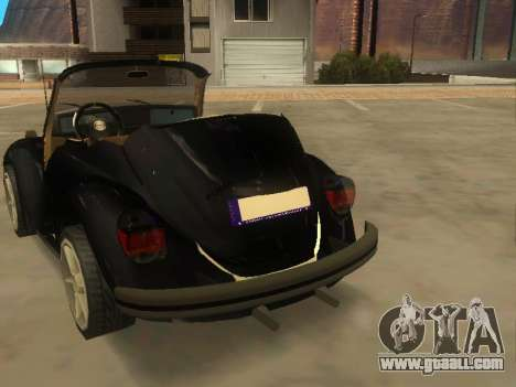 Volkswagen Beetle 1984 for GTA San Andreas back left view