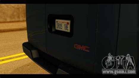 GMC Savana 3500 Passenger 2013 for GTA San Andreas back view