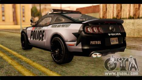 NFS Rivals Ford Shelby GT500 Police for GTA San Andreas left view