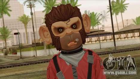 Monkey from GTA 5 v3 for GTA San Andreas third screenshot