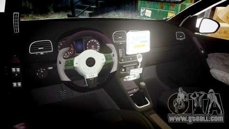 Volkswagen Golf Mk6 Dutch Police [ELS] for GTA 4 inner view