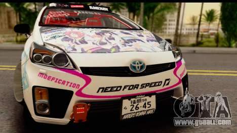 Toyota Prius Hybrid Eri Ayase Love Live Itasha for GTA San Andreas back left view