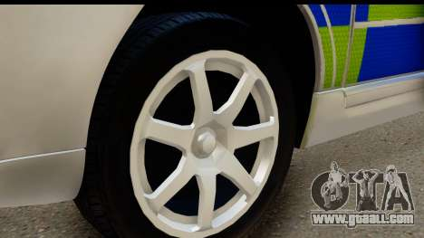 Volvo V70 Kent Police for GTA San Andreas back view