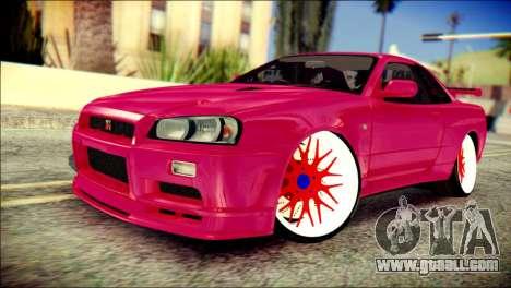 Nissan Skyline GTR V Spec II for GTA San Andreas