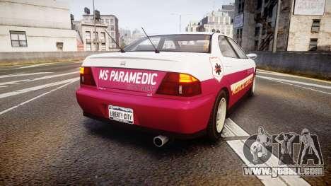 Dinka Chavos Paramedic for GTA 4 back left view