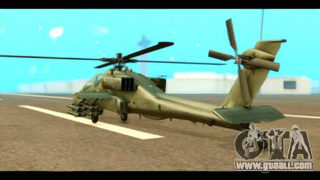 Boeing AH-64D Apache for GTA San Andreas left view