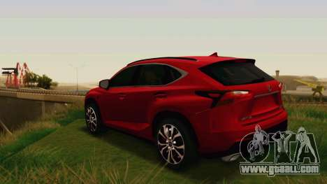 Lexus NX200T v2 for GTA San Andreas right view