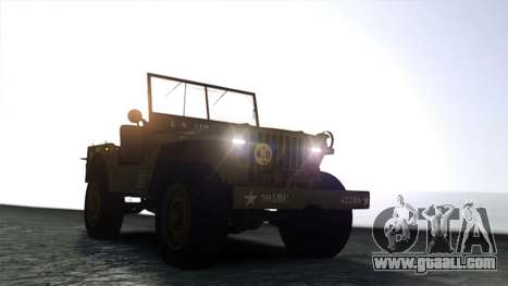 Ford Willys 1942 for GTA 4 right view