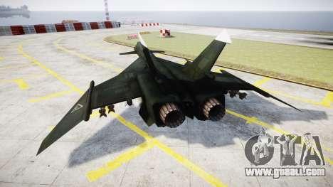MiG-31 Fire Fox MEC PJ for GTA 4 back left view