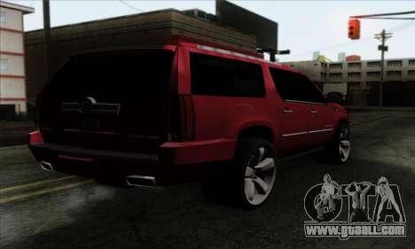 Cadillac Escalade 2013 for GTA San Andreas left view