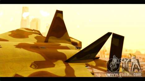 F-22 Raptor Desert Camouflage for GTA San Andreas back left view