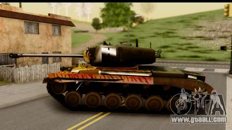 M26 Pershing Tiger for GTA San Andreas left view