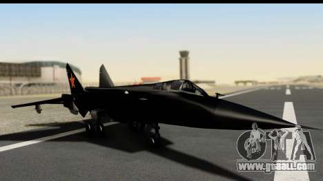 Mikoyan-Gurevich MIG-31 China Air Force for GTA San Andreas