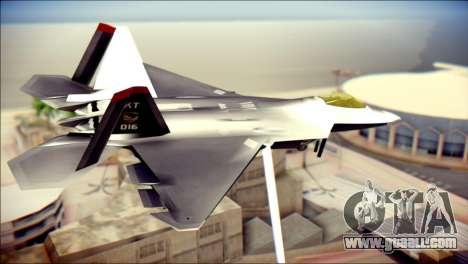 F-22 Raptor Razgriz for GTA San Andreas left view