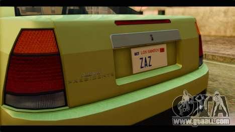 GTA 4 Presidente for GTA San Andreas back view