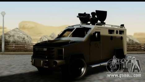 Camion Blindado for GTA San Andreas