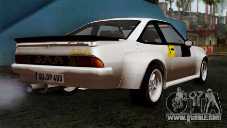 Opel Manta 400 v2 for GTA San Andreas left view