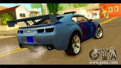 Chevrolet Camaro Indonesia Police for GTA San Andreas left view