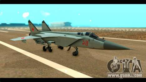 MIG-31 Soviet for GTA San Andreas